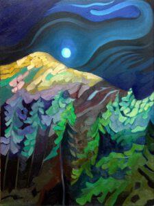 Summer Moon Idaho - Oils on Canvas