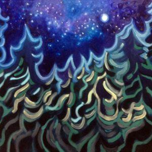Winter Tidings - Oils on canvas