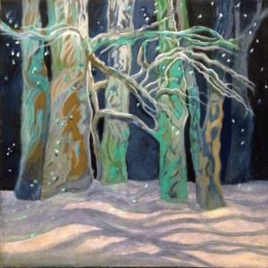 December Trees oils on canvas 18x18