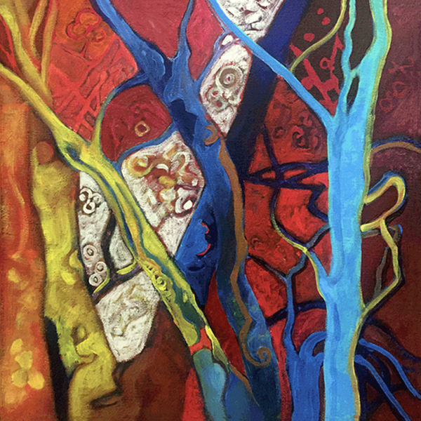 March Trees oils on canvas 18x18