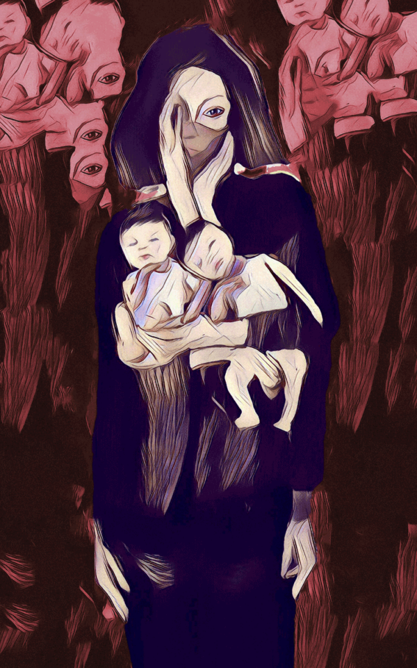 Mourning Sickness digital painting 28x40