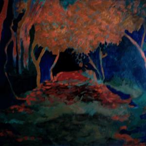Night-Path oils on canvas 18X24
