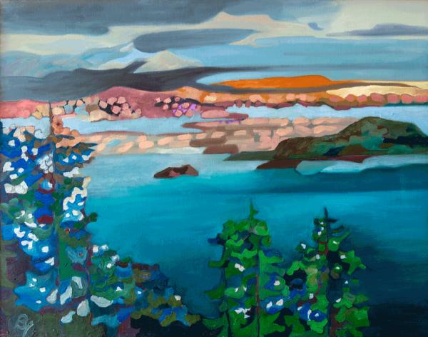 Summer Lake, Hope Idaho oils on canvas 18X24 oils