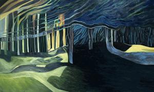 The Deep Woods Oils on canvas 36x60