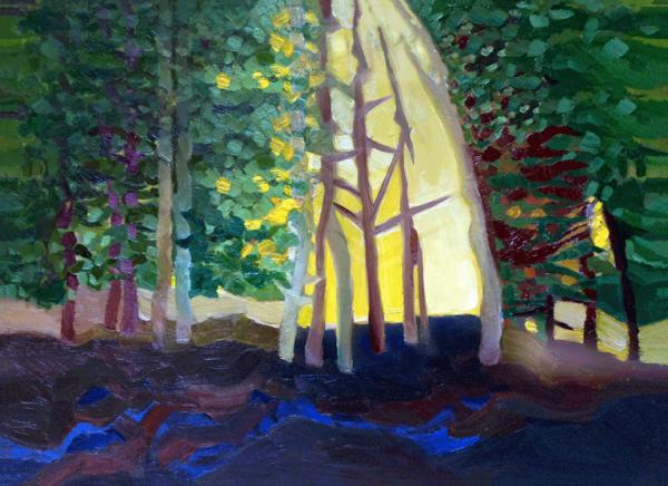 The Presence - Oils on wood panel