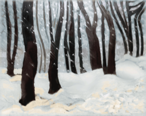 Winter Flurries oils on canvas 16X20